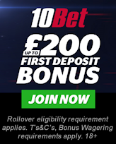 10Bet - Up to £200 First Deposit Bonus - Join Now